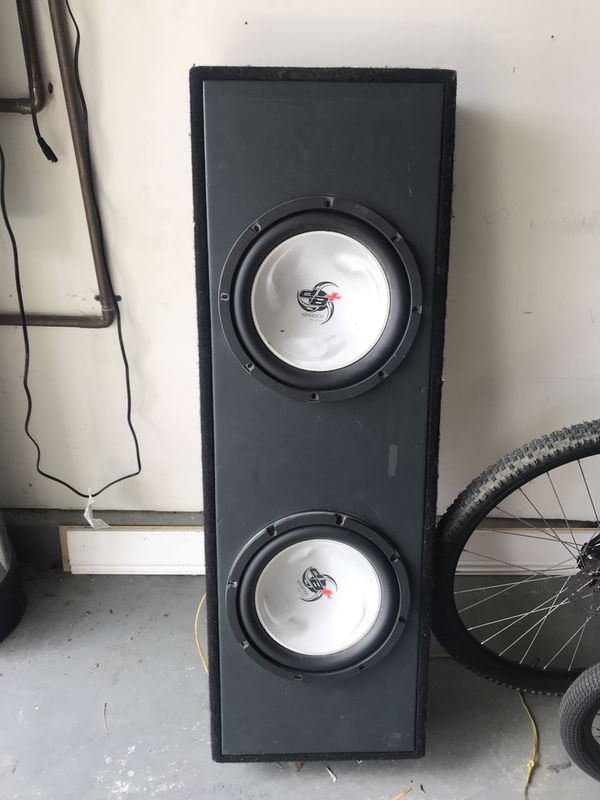 Wired speaker box with two 12 Inch Kenwood subwoofers for Sale in La Costa,  CA - OfferUp