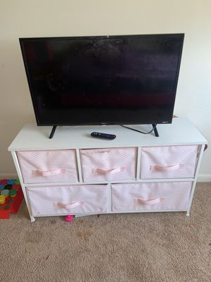 Photo Moving and Dont want it....32 inch smart tv and baby dresser......Best price n able to pick up it's yours.