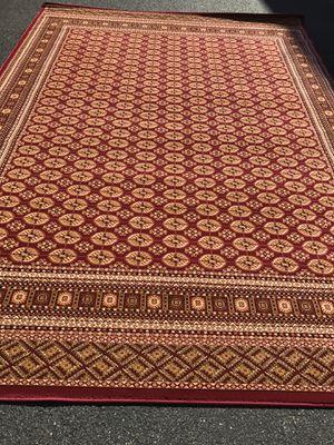 Brand new bokhara design area rug size 8x11 nice red carpet for Sale in Burke, VA