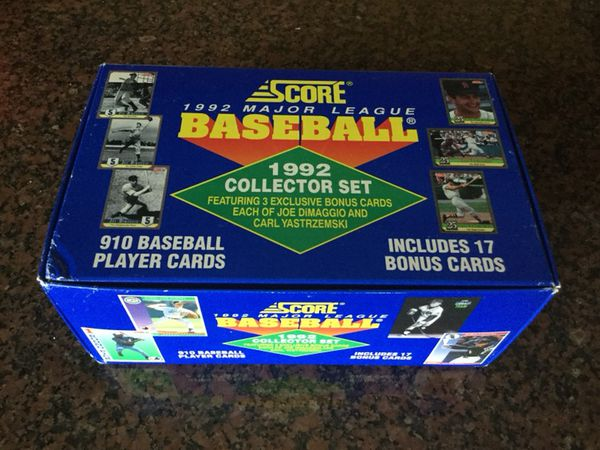 1992 Score Baseball Complete 910 Collector Set Includes 17 Bonus Cards 19 Parkland For Sale In Coral Springs Fl Offerup