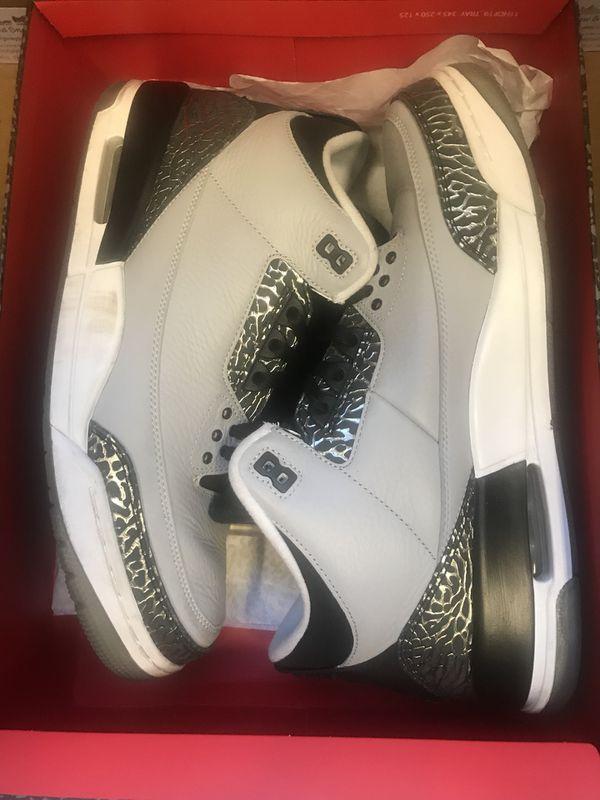 75f9a3c03667 Jordan Retro 3 Wolf Grey Size 12 for Sale in Lynnwood
