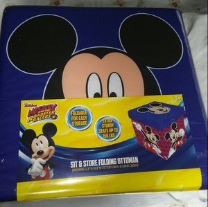 Photo Brand new Mickey mouse ottoman / toy box $25 firm price pick up only in Bakersfield in the Oildale area serious buyers only!! No holds