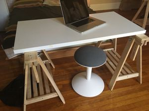 Ikea sit/stand/tilt desk with adjustable stool for Sale in Washington, DC