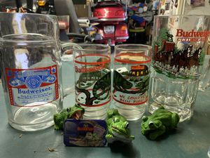 Budweiser collectible glasses (4) for Sale in Westminster, MD