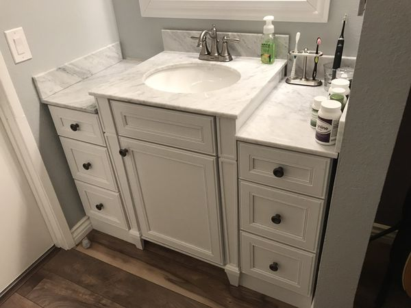 Cardell White Marble Vanity Countertop Home Depot For Sale