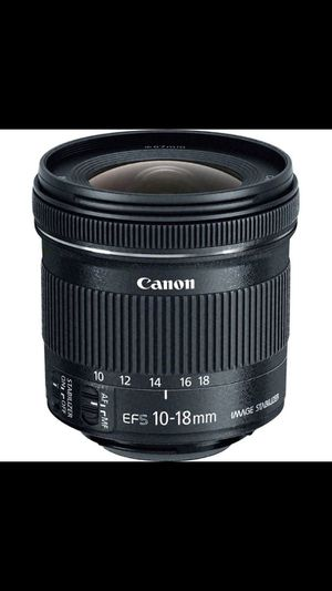 CANON EF-S 10-18mm f/4.5-5.6 IS STM Lens for Sale in Frederick, MD
