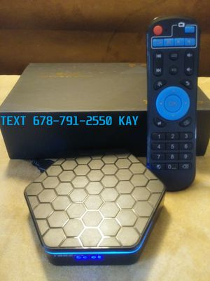 Super Android 4K TV Box! Exclusive pro setup self updating with a TV Guide! Colorful LED lights with honeycomb design! Twice the speed of a stick! for Sale in Ellenwood, GA