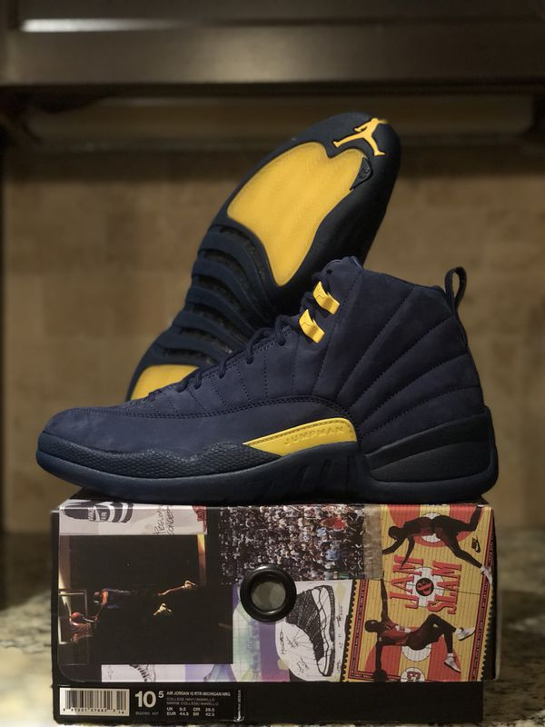 "the best attitude 4ce5c a70fa Air Jordan 12 ""Michigan"" size 10.5 for sale price is negotiable for Sale in  Houston, TX - OfferUp"