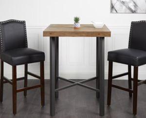 "Photo New!! Barstool, bar stool, kitchen stool, kitchen barstool, solid wood legs faux leather 29"" set of 2 barstool, dinning room barstool, kitchen furni"