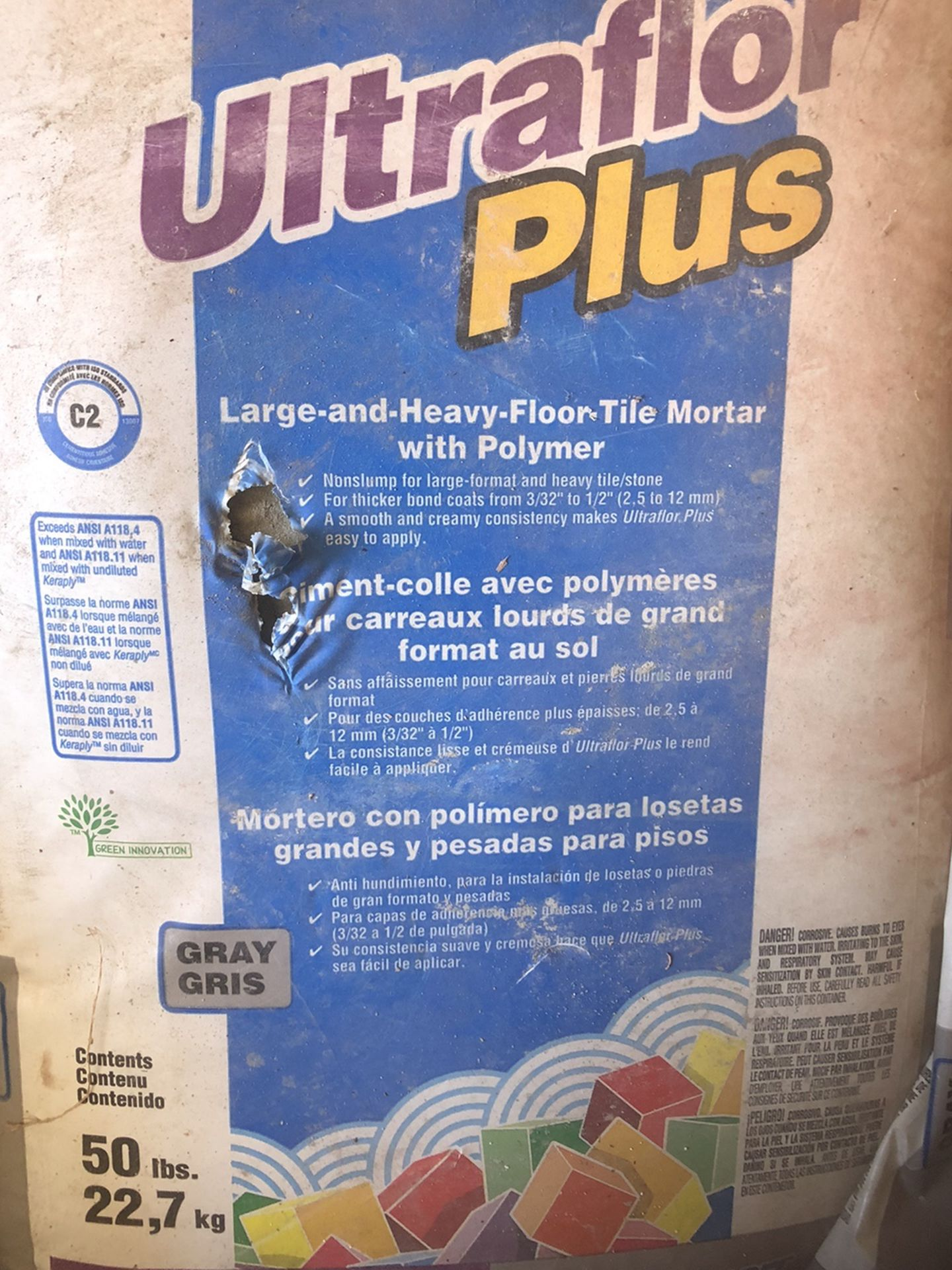 Brand New Large And Heavy Floor Tile  Mortar Polymer