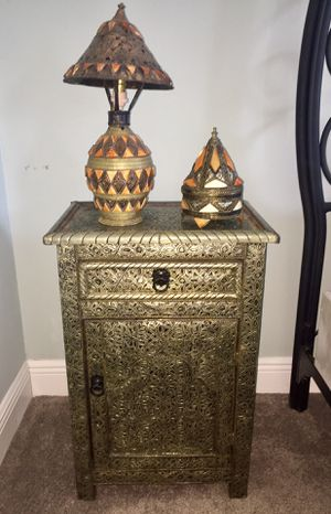 Bohemian/ Moroccan/ Vintage Nightstand/ Table/ Dresser for Sale in Lutz, FL