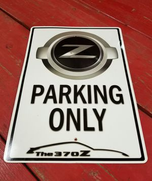 NISSAN 370-Z LOGO parking only sign for Sale in St. Louis, MO