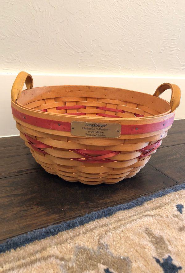 Longaberger Christmas Basket.Longaberger Christmas Collection Popcorn Basket For Sale In Edmond Ok Offerup