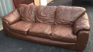 Brown leather couch, loveseat, chair and ottoman set. for Sale in Centreville, VA