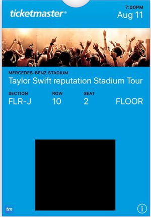 Taylor Swift - Floor Seats - $360 each (2 total) - Mercedes Benz Stadium - August 11th - TSwift for Sale in Smyrna, GA