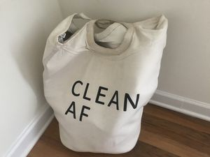 Urban outfitters clean/dirty AF laundry bag for Sale in Alexandria, VA