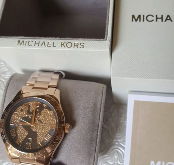 Nwt michael kors world map watch rose gold jewelry accessories nwt michael kors world map watch rose gold jewelry accessories in mansfield tx offerup gumiabroncs Images