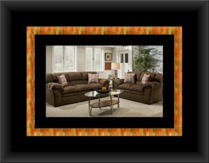 Chocolate fabric sofa and love seat for Sale in Adelphi, MD