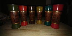 Vintage mahogany tiki cups for Sale in Sumner, WA