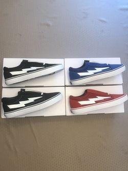 Revenge Storm OG Blue, Red, & Black Sizes 12 & 13 Ian Connor Low Top Sneakers Thumbnail