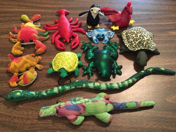 Sand Filled Stuffed Animals, Sand Filled Animals Glitter Metallic Stuffed Toy Snake Turtle Frog Alligator Crocodile Crab Lobster Beetle Penguin Bird Chicken For Sale In Wa Us Offerup