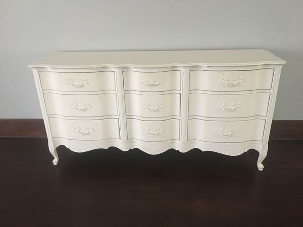 Gorgeous Expensive Shabby Chic Antique White Dresser Los Angeles