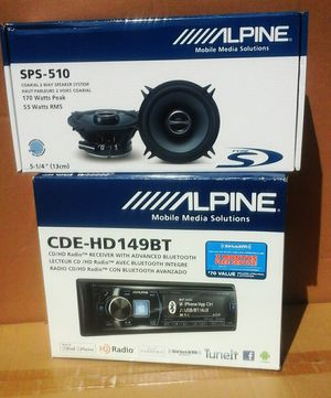 """Car Stereo Single Din Bluetooth CD AM FM Radio and 5 1/4"""" Inch Speaker Set Pair Package 🚨 We Beat Online Prices 🚨 90 Day Payment Plan for Sale in Los Angeles, CA"""
