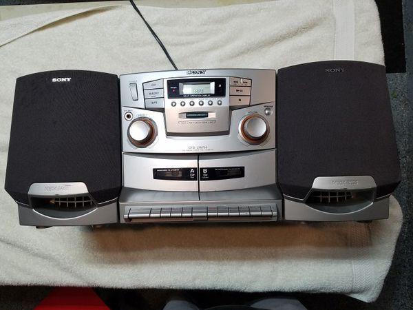 7253fc9dc18 Sony CFD-ZW755 Portable AM FM Dual Cassette CD Player Detachable Speaker  Boombox