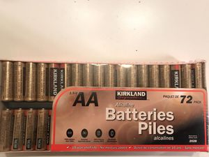 Costco/Kirkland 72 AA batteries. for Sale in Sully Station, VA