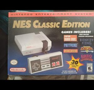 Photo New NES CLASSIC Nintendo $100 Firm $100 PRECIO ES FIRME Can't find these in stores anymore Has 30 pre installed games Message if interested CROSS