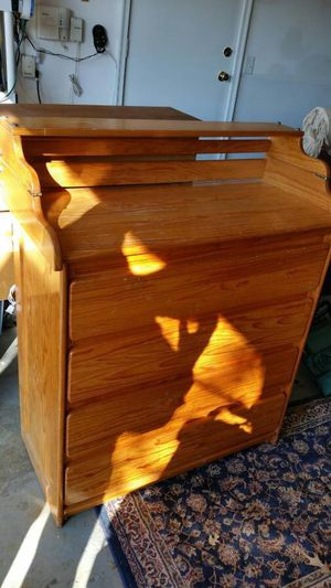 Wood Dresser Changing Table - Will Deliver for Sale in Washington, DC