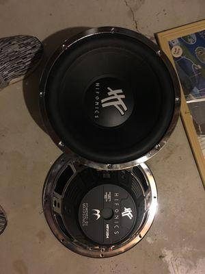 Hifonics 12 inch subs 600 watt peck 300 watts rms hfi12d4