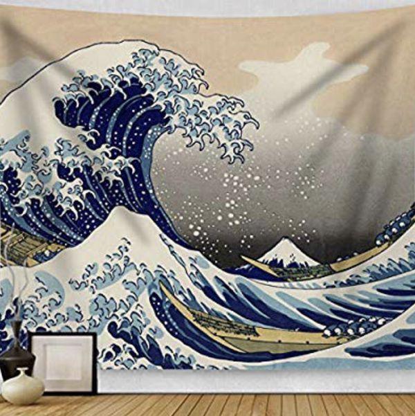 BRAND NEW Wave Tapestry Wall Art Painting Ocean Bedroom