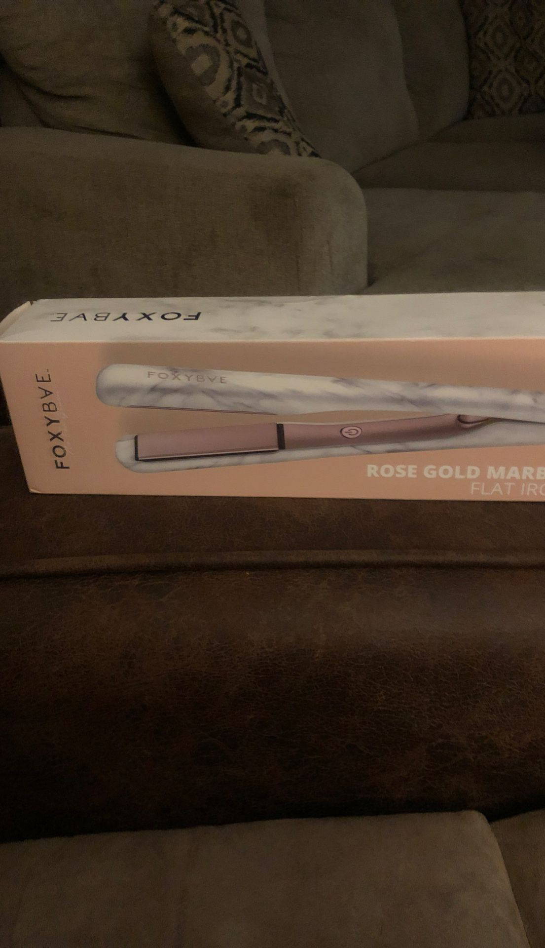 New WHITE MARBLE ROSE GOLD FLAT IRON