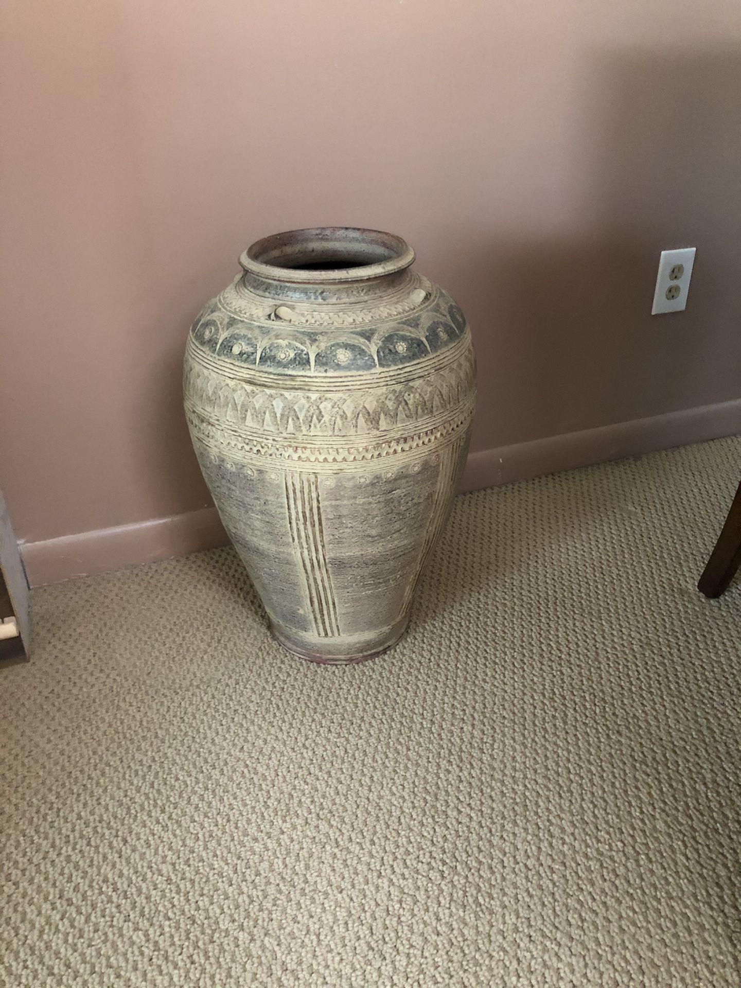 Large Clay Vase