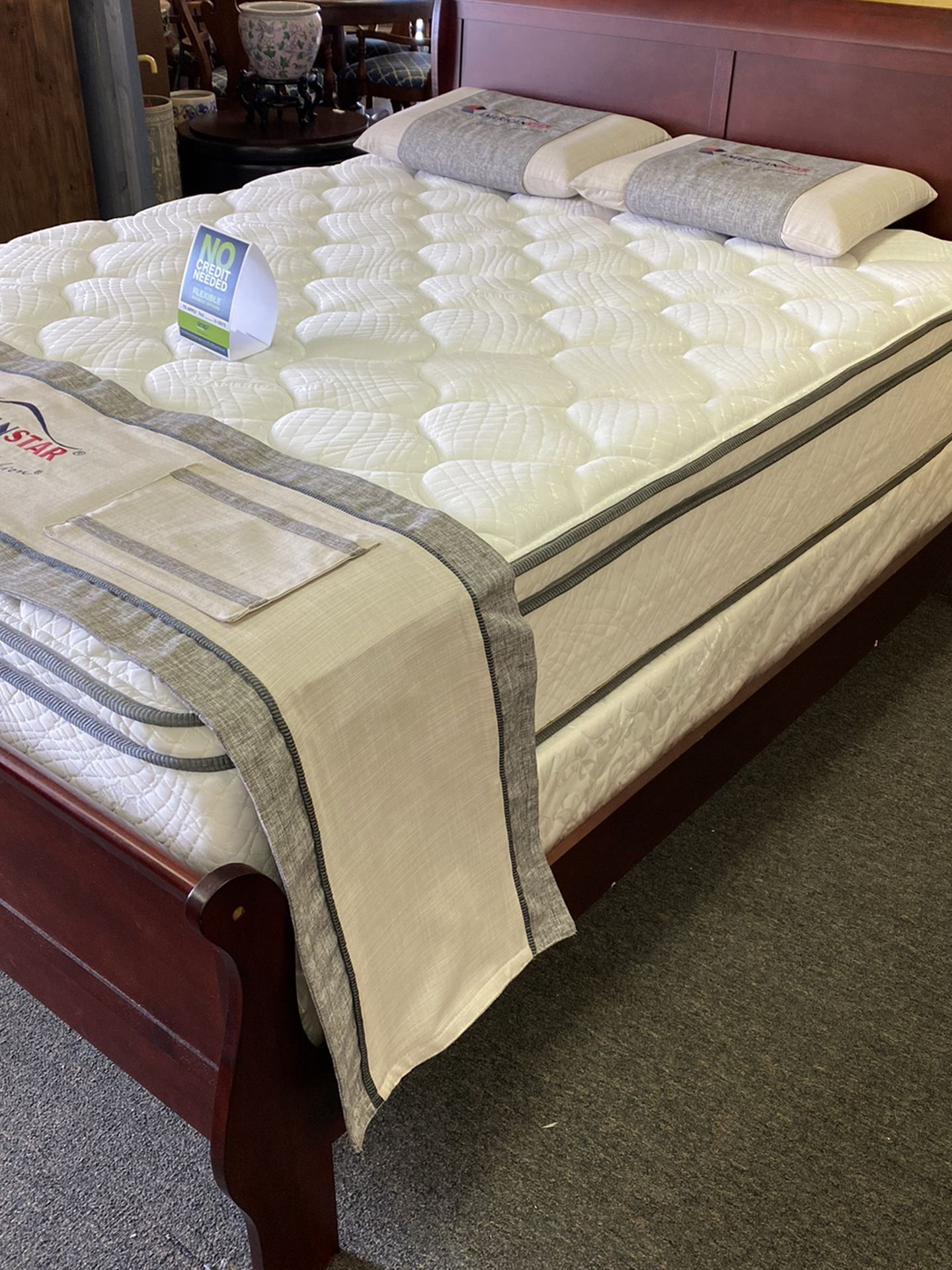 Queen Size Bed With Promotional Mattress And Free Delivery