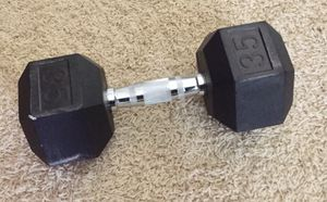 35 lb Dumbbell Weight for Sale in Cypress, TX