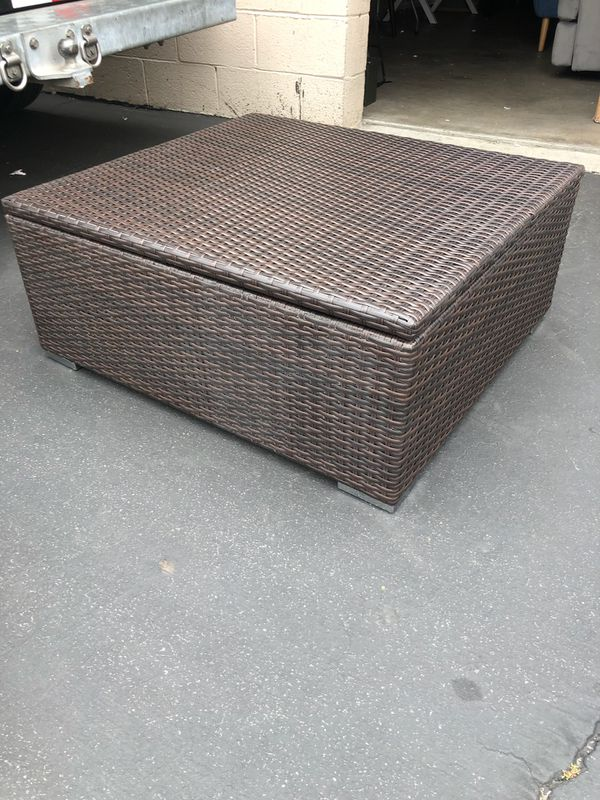 Groovy Brown Patio Outdoor Storage Ottoman For Sale In Norwalk Ca Ocoug Best Dining Table And Chair Ideas Images Ocougorg