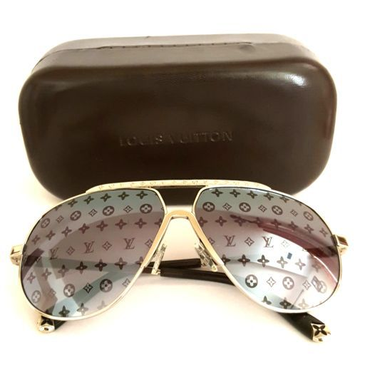 97501057213a2 Louis Vuitton Monogram lenses Conspiration Pilot Sunglasses for Sale ...