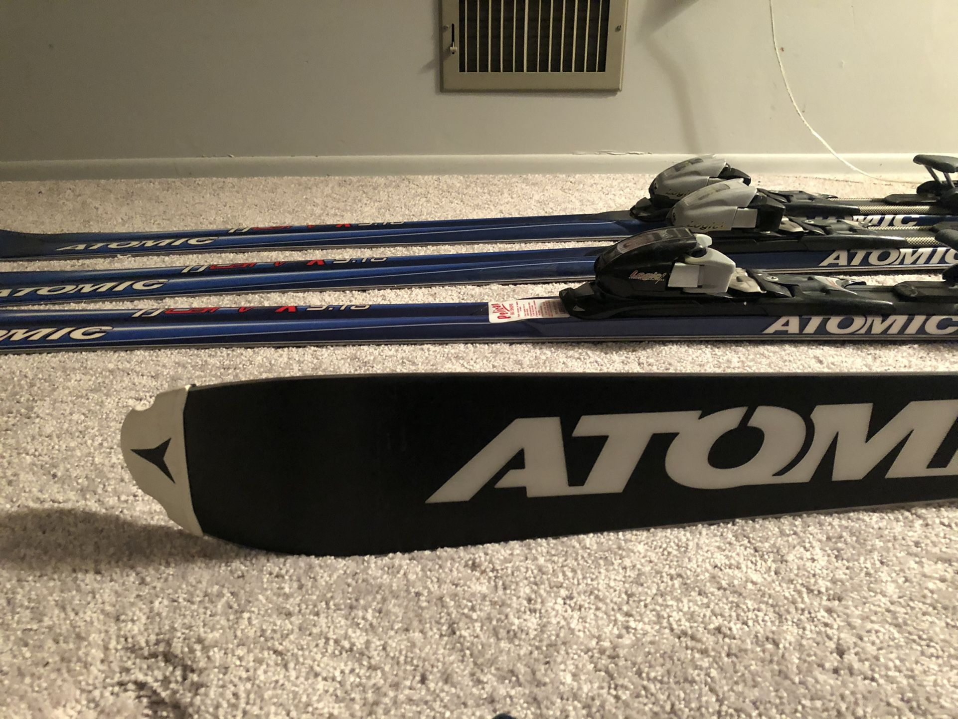 Atomic BCarv X9.18 180 and 200 Skis With Nordic Boots