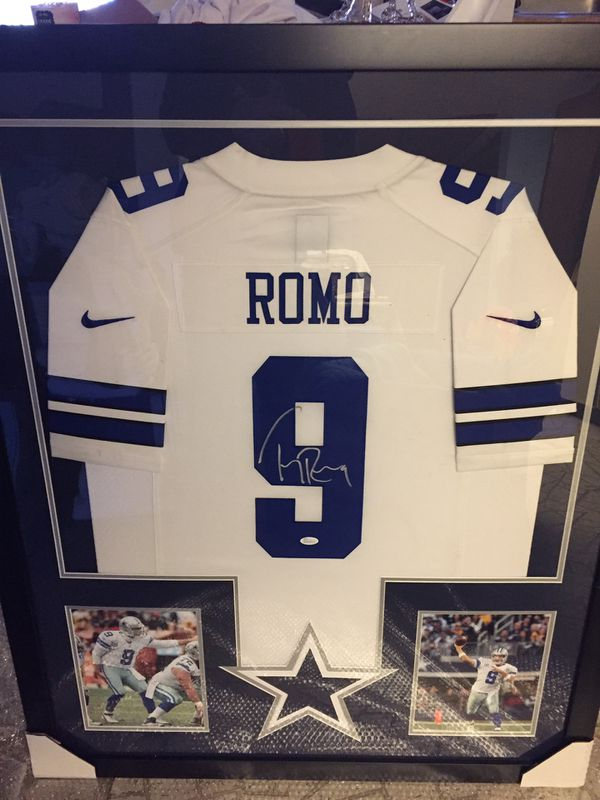 buy popular f5fb1 c83e2 Tony Romo Hand Signed Authentic Nike Jersey not a Replica CUSTOM FRAMED and  MATTED with JSA Certificate of Authenticity!!!!! for Sale in Plano, TX - ...