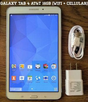 Galaxy Tab 4 At&t 16gb (WiFi + Cellular) 8 inch screen for Sale in Alexandria, VA