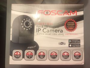 Foscam pan and tilt wireless IP camera. for Sale in St. Louis, MO