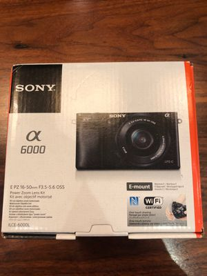Sony Alpha a6000 Mirrorless Digital Camera (black) for Sale in Rockville, MD