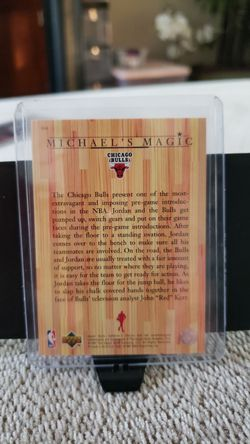 Michael Jordan Upper Deck Trading Card Thumbnail
