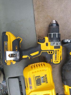 Photo Dewalt 20 v max sawzall, xr impact, xr hammer drill, 1 charger 2 batteries. 200 obo