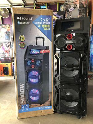 "Photo Karaoke speaker/ dual 12"" /9"" android tablet/ wi-fi"