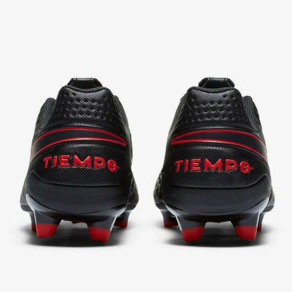 Nike Tiempo Legend Size 8.5 MG Black/Red Soccer Cleats