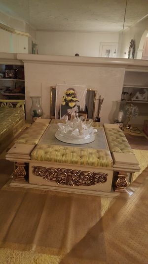 Table with 8 track Console for Sale in Cleveland, OH