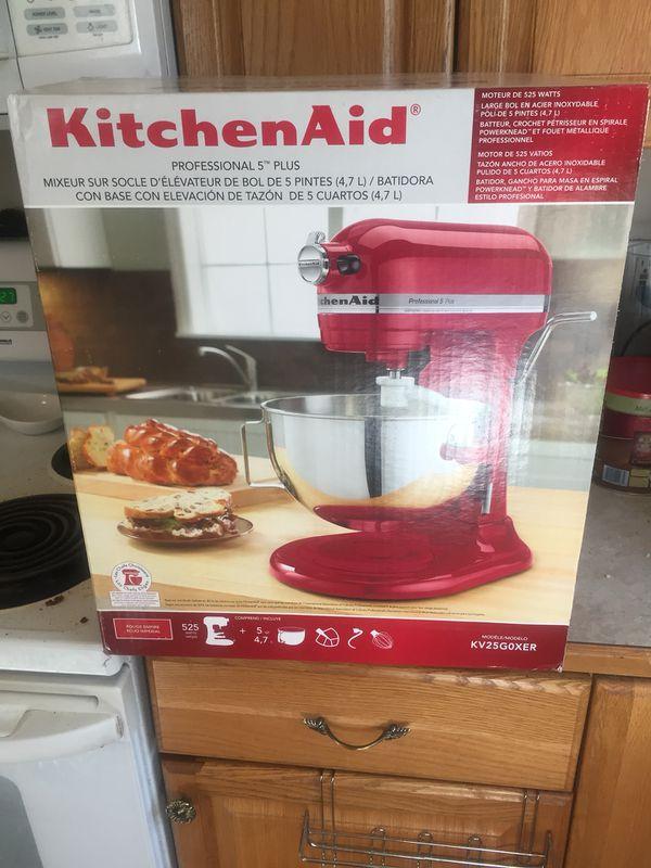 Kitchenaid 5qt 525 Watt Stand Mixer In Empire Red